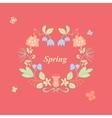 spring wreath vector image vector image