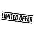 square grunge black limited offer stamp vector image vector image