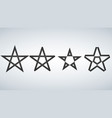 star icons isolated on white background vector image vector image