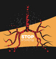 stop smoking concept vector image