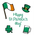 StPatricks Day collection vector image vector image