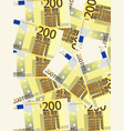 two hundred euro background vertical vector image vector image