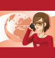 woman on the phone vector image vector image