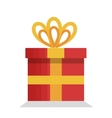 merry christmas gift isolated icon vector image