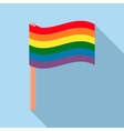 Rainbow flag icon in flat style vector image