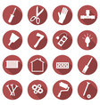 set of repair concept icons flat images of tools vector image