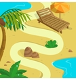 Tropical Island background Template for your vector image