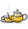 hot green tea vector image