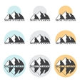 Stock Mountains Set vector image