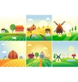 Farm field vector image