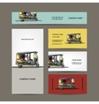 Indian taxi car business cards for your design vector image
