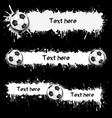203 - soccer balls and blots vector image vector image