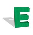 3d pixelated capital letter e 3d vector image vector image