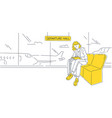 a girl at airport is waiting for her flight vector image