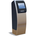 airport kiosk vector image vector image