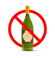 alcohol are not allowed red forbidden sign vector image