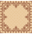 arabic ornament on light beige pattern vector image