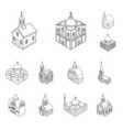 architecture and building vector image