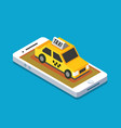 axi cab and mobile vector image