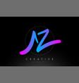 az artistic brush letter logo handwritten vector image vector image