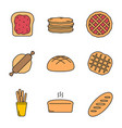 bakery color icon vector image