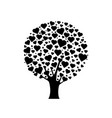 black wood with hearts vector image vector image