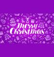 christmas xmas greeting card or banner holiday vector image vector image