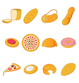 Collection of bread icons vector image