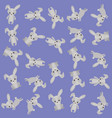 cute rabbit pattern background vector image vector image
