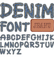 denim font vector image vector image