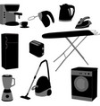 domestic appliances set vector image vector image