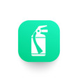 fire extinguisher icon pictogram vector image