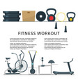 fitness workout in club or center background vector image vector image
