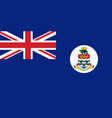flag of cayman islands in official vector image vector image