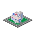 Flat 3D isometric shopping mall concept vector image