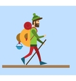 Flat style Tourist vector image vector image