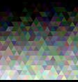 geometric polygonal triangle tile background vector image vector image