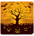 halloween evening design vector image vector image