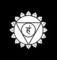 hand drawn chakra vishuddha vector image