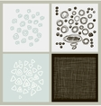 Hand Drawn textures made with ink vector image vector image