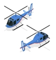 Helicopter Isometric View vector image vector image