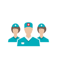 icons set medical employees in modern flat vector image vector image