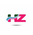 Letter h and z logo vector image