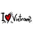 love vietnam vector image vector image