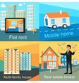 Mobile Home Flat Rent Multi-family House vector image