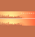 palermo beautiful skyline scenery banner vector image vector image