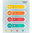 Paper infographic template vector image
