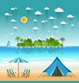 paradise coast landscape with mountains summer vector image