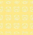 pig and bear line pattern vector image vector image