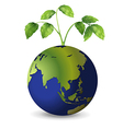 Planet earth growing plants vector image
